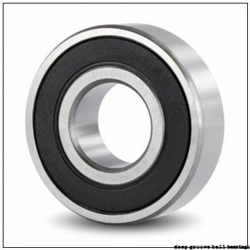 6 mm x 15 mm x 5 mm  KOYO F696 deep groove ball bearings